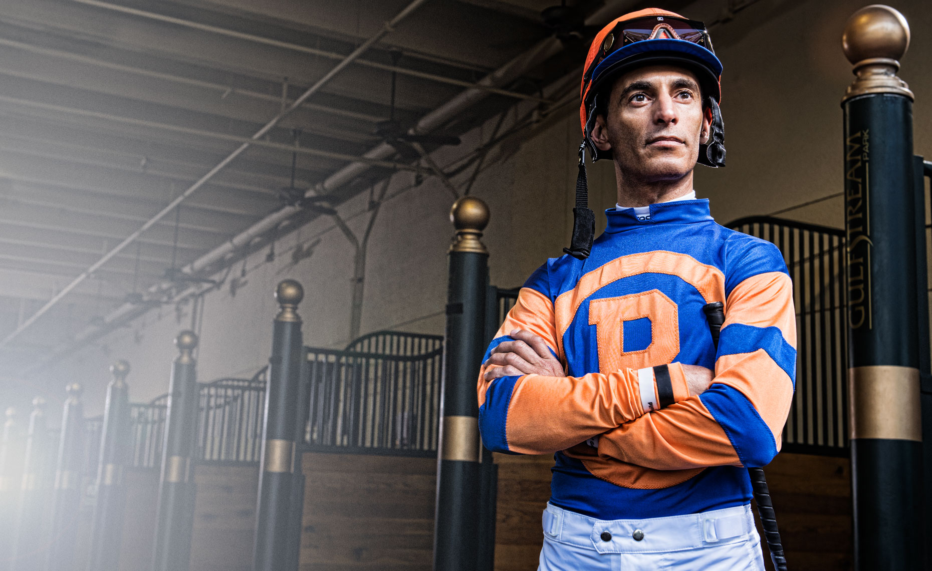 Portrait of jockey, John Velazquez by Scott Redinger-Libolt / redphoto