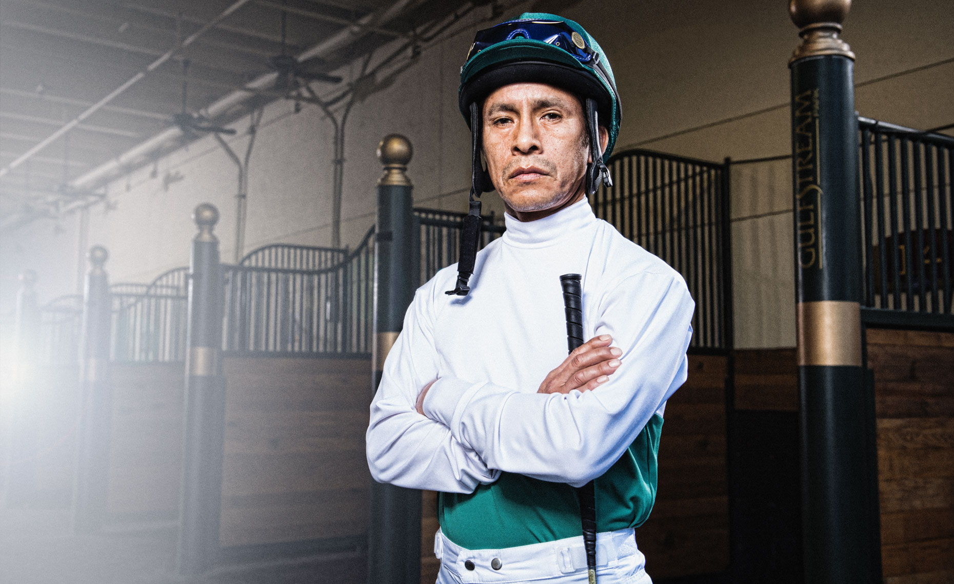 Portrait of jockey, Edgar Prado by Scott Redinger-Libolt / redphoto